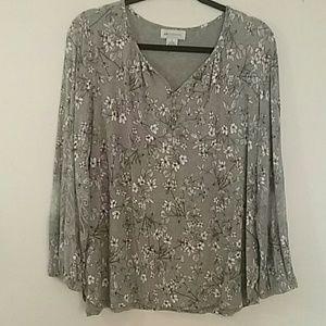Liz Claiborne 3/4 sleeve blouse